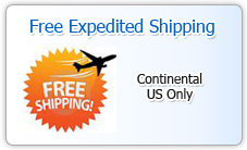 Free Expedited Shipping (Continental US only)